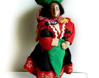 Peruvian Doll and Baby / Vintage cloth doll Peru