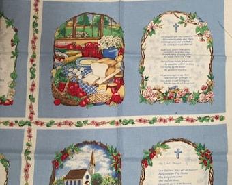Book of Prayers Cloth Book Fabric Panel