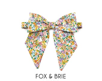 Spring Floral Lady Ascot Bow Tie