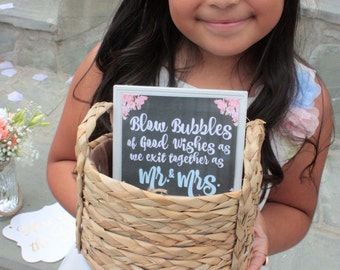 Blow Bubbles of Good Wishes Printable Sign for Wedding - 4x4 or 6x6