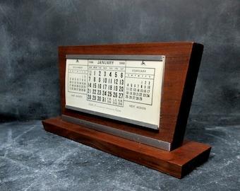 Vintage Desk Calendar - Mid Century Modern 1968 - Perpetual Calendar - Office Decor