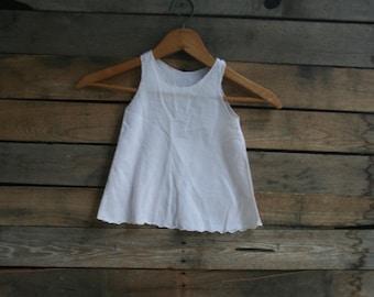 Vintage Children's Pale Pink Batiste Tank Dress