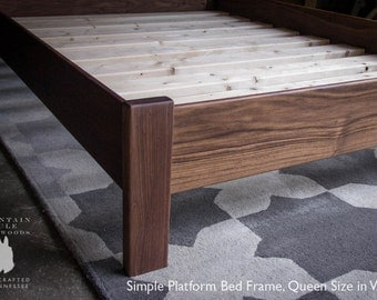 Platform bed etsy American home furniture bed frames