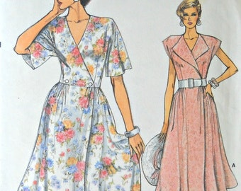 Very Easy Very Vogue 9282, Misses Dress pattern, sizes 6, 8, 10, Vintage 1985