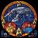 Rose Window - Star Trek Original Series Stained Glass Illustration