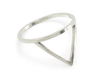 Peak Ring, Minimalist Ring, Stackable Rings, Sterling Silver Rings For Women, RS002