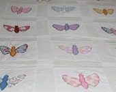 Vintage applique butterfly quilt handmade
