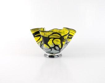 Yellow Blown Glass Bowl