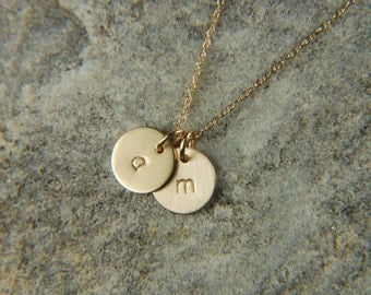 Gold Mommy Necklace 8 mm 14K Solid Gold Necklace Personalized Gold Necklace Dainty Gold Necklace Push Present