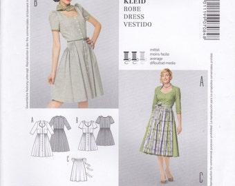 Retro Style Dress & Apron Pattern Burda 7084 Sizes 10 - 24 Uncut