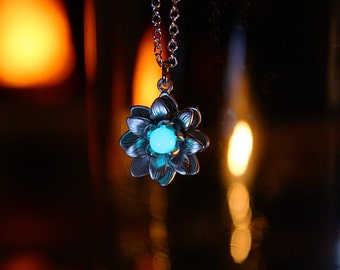Lotus Flower Pendant GLOW in the DARK