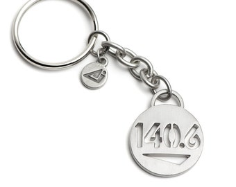 140.6 Ironman Triathlon Keychain, Gift for Triathletes, Ironman Triathlon, Triathlon Gifts, Ironman Triathlon Inspiration 140.6 Gifts, 140.6