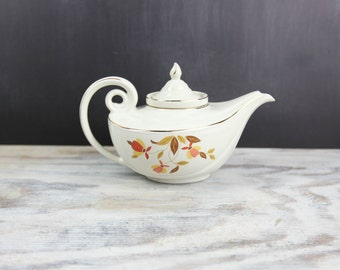 Vintage Infuser Teapot, Autumn Leaf, by Hall's Superior