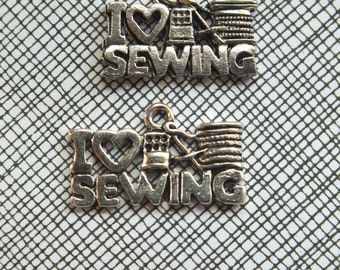 Sewing, Quilting or Knitting Charms:  Choose from I heart sewing, I heart quilting, or I heart knitting- Make your own jewelry! DIY Crafting