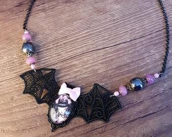 Handmade  Coeur de Lolita II necklace, gothic lolita style
