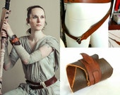 Rey Costume Belt and Bracer; Rey Cosplay; Star Wars The Force Awakens Outfit. Genuine leather Rey Belt!