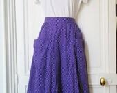 Vintage cacharel polka dots skirt
