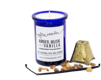 Apothec Candle // Amber, Musk and Vanilla //  // Soy Candles // Gifts for the Home // Home Decor //  Fragrance for Your Home or Office