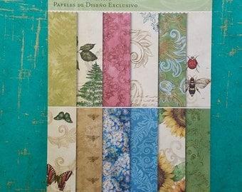 Nature CARD STOCK, Nature Print Card Stock, Tim Coffey Foliage, Botanical Card Stock, Flora Fauna Card Stock, Nature Paper Pad, Floral Paper
