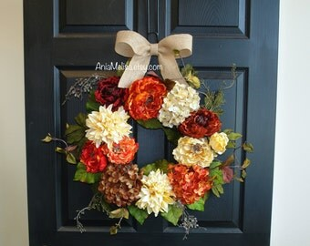 fall wreaths Thanksgiving wreaths for front door wreaths outdoor decorations home and living gift ideas outdoor wreaths
