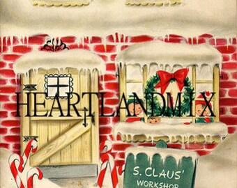 Santa Claus' Workshop Digital Image