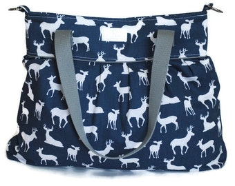 Navy Buck Diaper Bag  - Stroller Bag - Bags and Purses - Baby Bag
