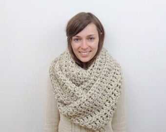 Giant Chunky Knit Infinity Scarf Wool Circle Scarf | THE ANCHORAGE