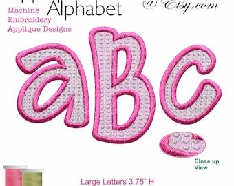 Applique Alphabet Machine Embroidery Designs BX Format Digital Download