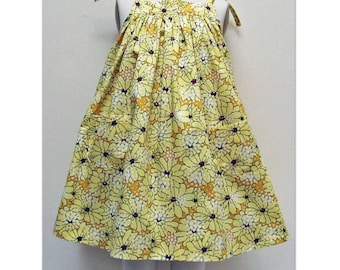 Girls dress sewing pattern Daisy Sundress pdf childrens sewing pattern, easy girls dress pattern sizes 6-9 mths to 8 yrs, multi versions