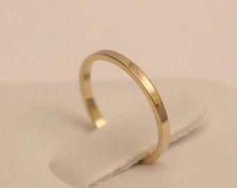 14K wedding band, 14k Wedding Ring, 14k rectangle ring, 14k solid gold ring, 14k thumb ring, 14k midi ring, 14k band ring
