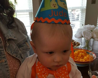 Boys First Birthday Party Hat - Squirt Finding Nemo - Free Personalization