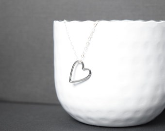 Heart necklace - Sterling Silver chain