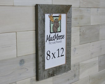 "8x12 Thin x 2"" BarnWood Picture Frame"