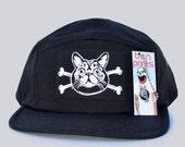 Cat Cross Bones Cap Mens Accessories Five Panel Hat Baseball Cap