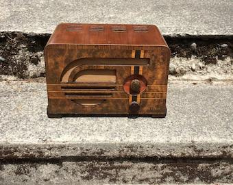 1937 Philco Art Deco Radio 37-602 Elec Restored