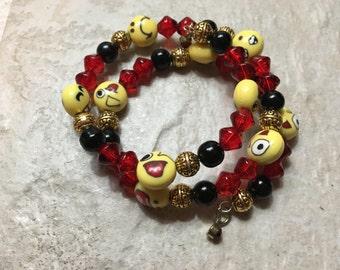 Fun/Classy Emoji Memory Wire Bracelet