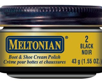 BLACK Color Boot & Shoe CREAM POLISH 002 condition leather exotic and reptile skin creamy shine wax conditioner Exotic Meltonian 2