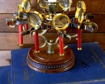 Neo Victorian Magnifying Glass Carousel Candlstick - Custom Steampunk Interior Design - Curiosity Shopper Crew Original