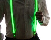 Light Up Suspenders, Glow in the Dark, Light Up, Rave Wear, Tron, Costume, LED