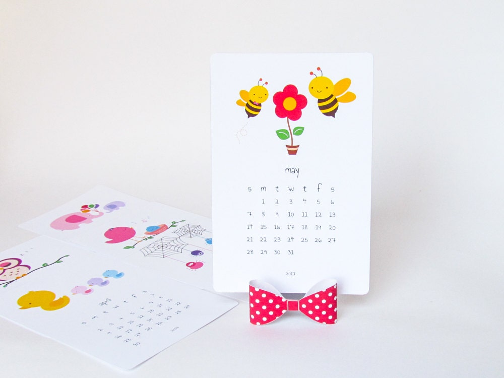 Desk Calendar Stand Diy : Printable desk calendar diy animal cute