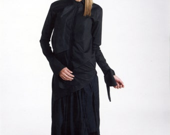 Black Long Sleeve Top - Long Sleeve Top - Black Top - Black Long Sleeve