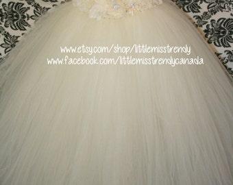 Ivory Flower Girl Dress, Ivory Tutu Dress, Ivory Couture Tutu Dress, Ivory Couture Flower Girl Tutu Dress, Flower Girl, Ivory Tutu