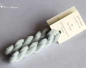 Hand dyed cotton thread / floss (6 strands) pale cerulean (161) for cross stitch / embroidery