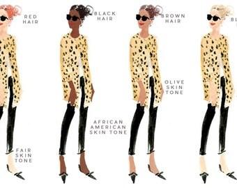 Customizable Stationery in Cheetah Coat