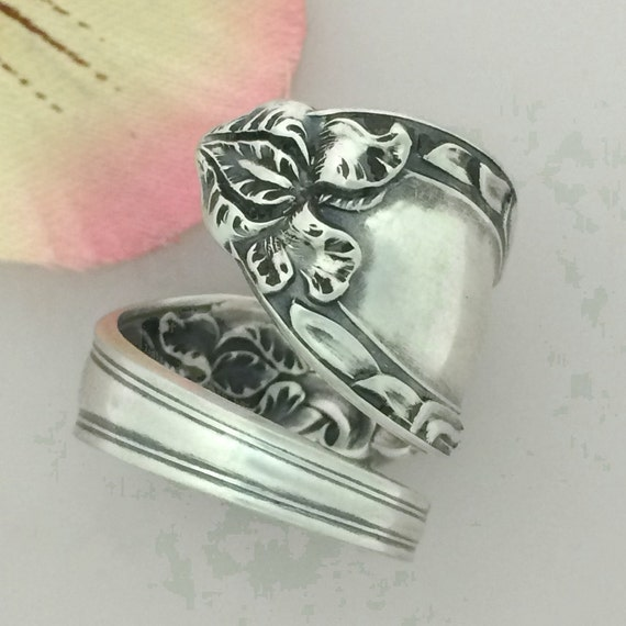 sterling silver iris spoon ring size 7 11 by