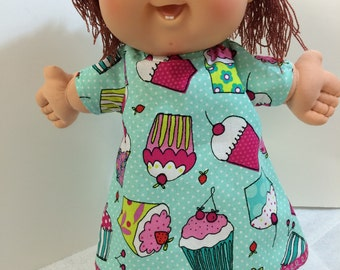 "Cabbage Patch 14 inch BABY or Smaller 14 inch Doll Clothes,""CUPCAKE- Happy Birthday"" Dress, 14 inch Cabbage Patch BABY, Happy Birthday!"