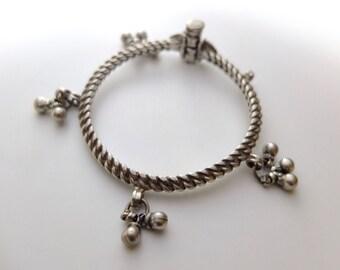 Bangle bracelets - silver ankle bracelets from india