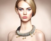 Choker with pearls, necklace with pearls, paper necklace, paper jewelry, Statement Necklace