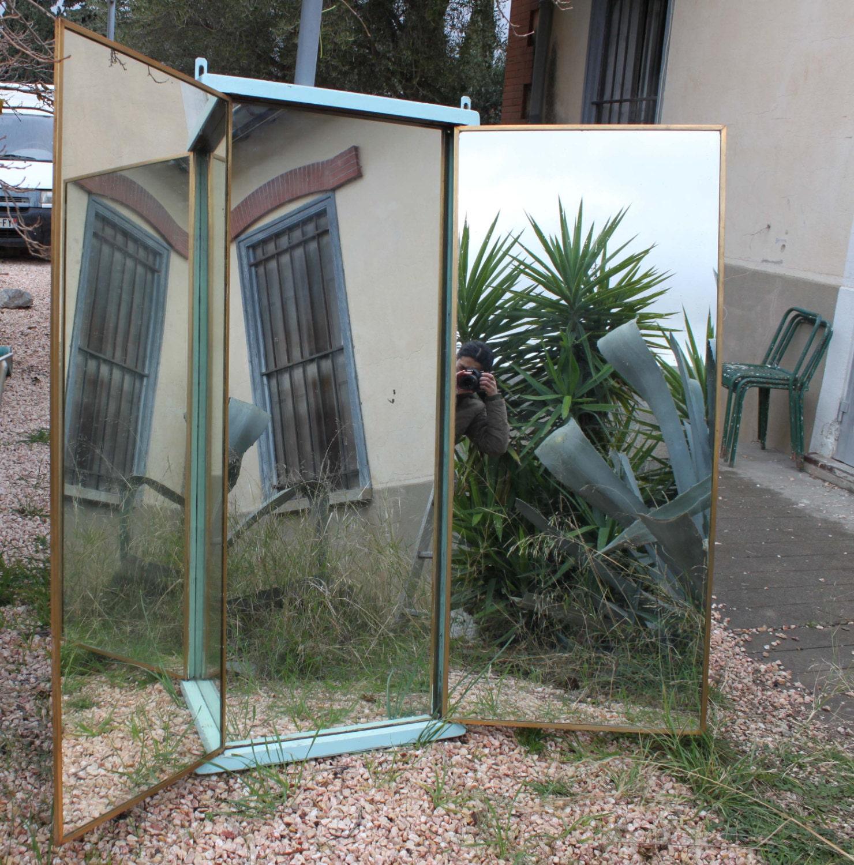 Miroir brot miroir triptyque de la c lebre fabrique francaise - Miroir triptyque ancien ...