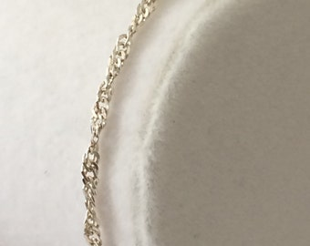 Sterling Silver Rope Chain Bracelet 6 3/4""
